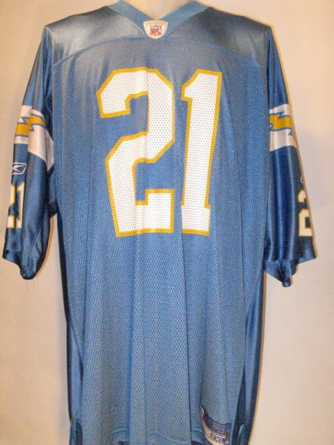 LadainianTomlinson San Diego Chargers 2XL Powder Blue Throwback Reebok Replica Jersey
