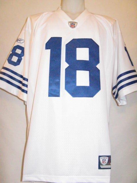 Peyton Manning Indianapolis Colts Throwback White Large Reebok Premier Jersey
