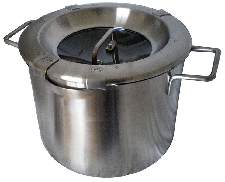 MICHNIK 6 Qt Stock Pot 8 in 1, Satin, Stainless Steel, Adjustable Straining, Induction