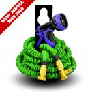 NEW MODEL World's Strongest 25 ft Expandable Garden Hose with FREE Hose Nozzle & Holder (Green)