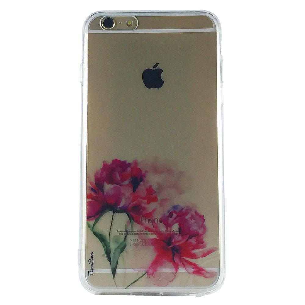 Petite Peonies - New Floral Transparent Cell Phone Case iPhone 6 plus ip6  plus