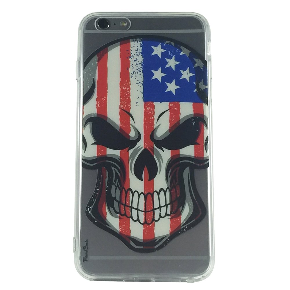Stars & Stripes -New USA Skull Cell Phone Case iPhone 6 plus ip6 plus