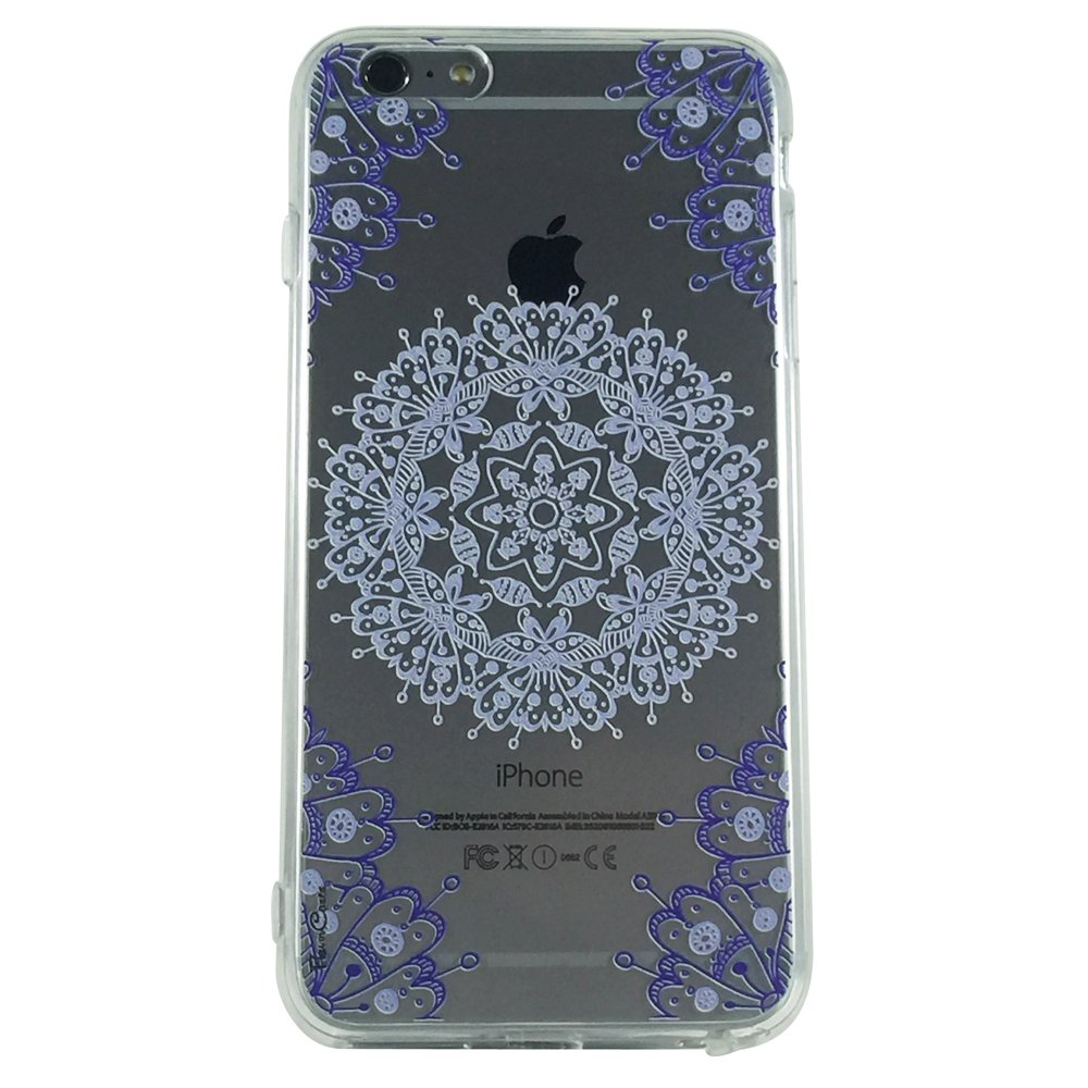 Purple Mandala Type 3 - New Henna Pattern Cell Phone Case iPhone 6 ip6