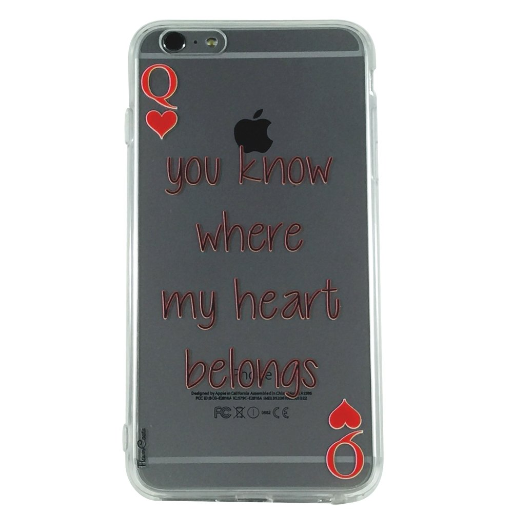 You Know Where My Heart Belongs - New Phrase Quotes Cell Phone Case iPhone 6 plus ip6 plus