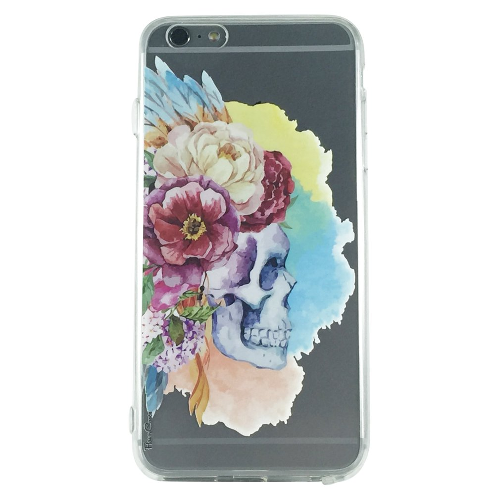 Indian Skull Floral - Skull Floral Gothic Cell Phone Case iPhone 6 ip6