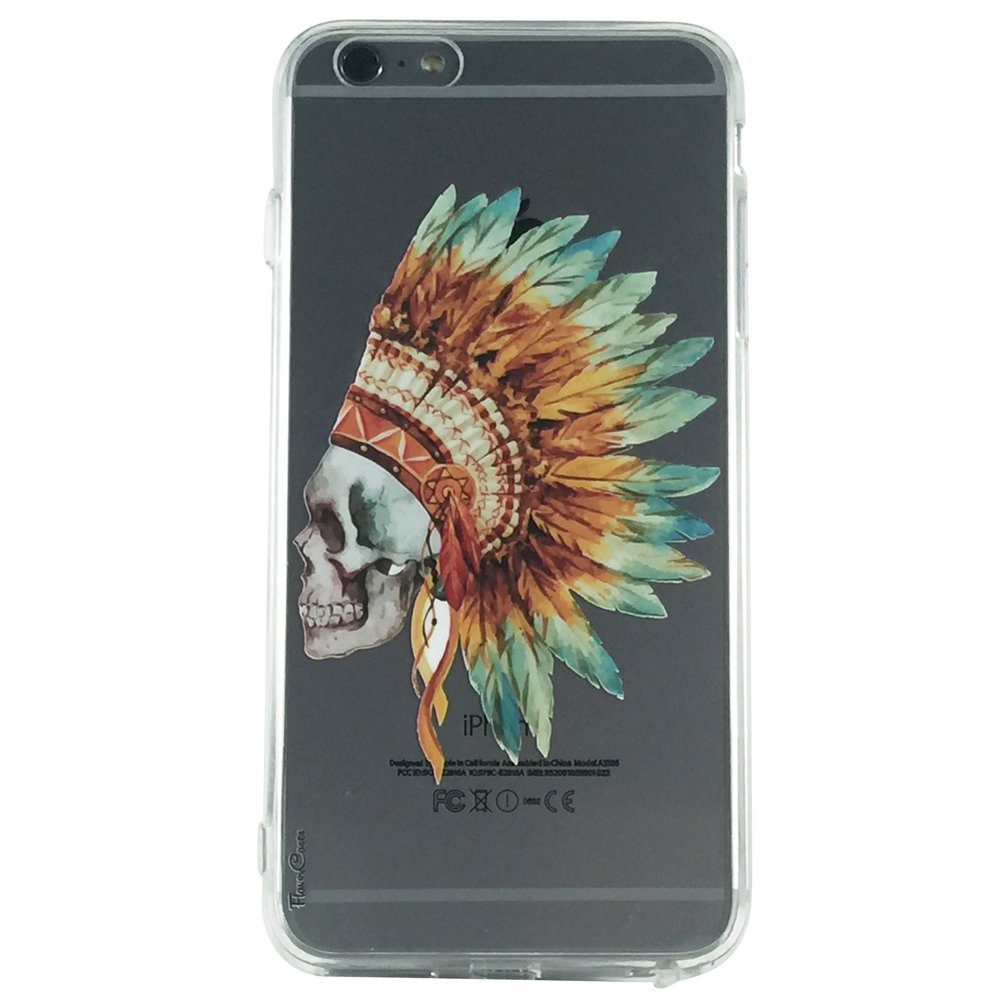 Indian Skull Warrior - Skull Warrior Gothic Cell Phone Case iPhone 6 ip6