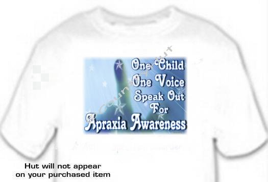 T-shirt, APRAXIA AWARENESS One Voice, Once Child - (adult 2xlg or 3xLg)