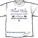T-shirt, PROUD MOM, Raising Public Autism Awareness - (adult Xxlg)