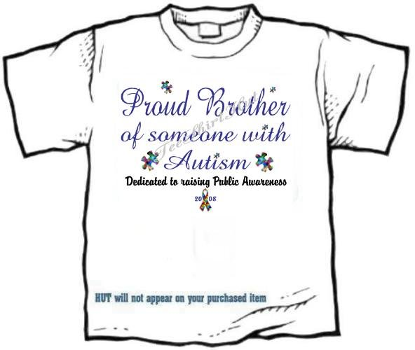 T-shirt, PROUD BROTHER, Raising Public Autism Awareness - (adult 3xlg)