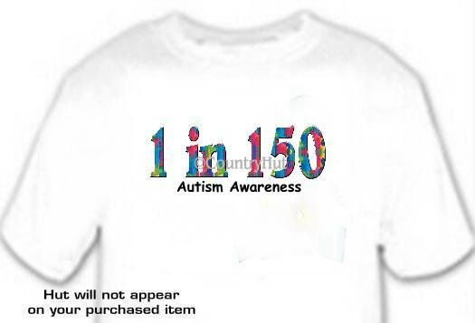 T-shirt, Autism Awareness, 1 in 150 -- #2 -- (Adult 4xLg - 5xLg)