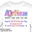 T-shirt, DOESN'T CARE WHO YOU ARE Autism Awareness - (Adult 4xLg - 5xLg)