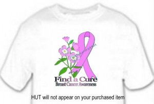T-shirt, BREAST CANCER AWARENESS, FORGET ME NOT - (adult 3xlg)