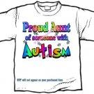 T-Shirt , Autism Awareness PROUD AUNT #3 - (Adult 4xLg - 5xLg)