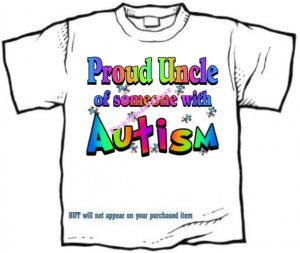 T-Shirt , Autism Awareness PROUD UNCLE #3 - (adult Xxlg)