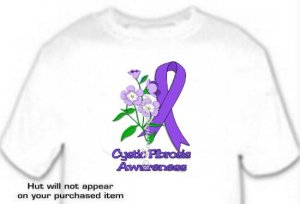 T-shirt, CYSTIC FIBROSIS Awareness FORGET Me NOT - (Adult 4xLg - 5xLg)