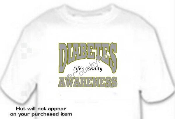 T-shirt, DIABETES Awareness, Life's Reality - (Adult 4xLg - 5xLg)