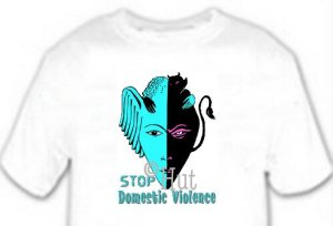 T-shirt, STOP!! Domestic Violence - (adult Xxlg)