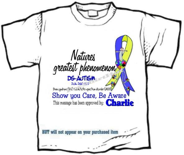 T-shirt, DS-AUTISM - Natures greatest phenomenon - (adult Xxlg)