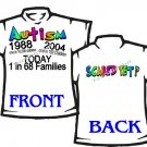 T-shirt, AUTISM today 1 in 68 families SCARED YET? - (adult 2xlg - 3xlg)
