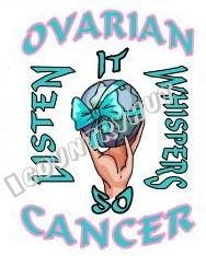 T-Shirt, OVARIAN CANCER Awareness, LISTEN IT WHISPERS - (Adult 4xLg - 5xLg)