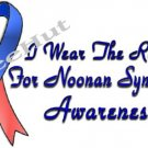 T-Shirt , NOONAN'S SYNDROME Awareness - I WEAR THE RIBBON - (youth & Adult Sm - xLg)