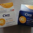 CIEN Q10 ANTI-WRINKLE DAY & NIGHT FACE CREAM DUO PACK