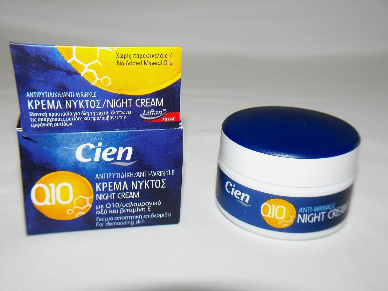 CIEN ANTI-WRINKLE NIGHT CREAM WITH Q10, HYALURONIC ACID & VIT E