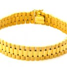 GORGEOUS ROLEX STYLE 14KT YELLOW GOLD LINK BRACELET 8 INCHES