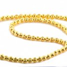 GORGEOUS DIAMOND CUT 10KT YELLOW GOLD BEAD CHAIN/NECKLACE