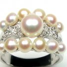GORGEOUS FESTIVE GENUINE PEARLS STERLIN SILVER RING