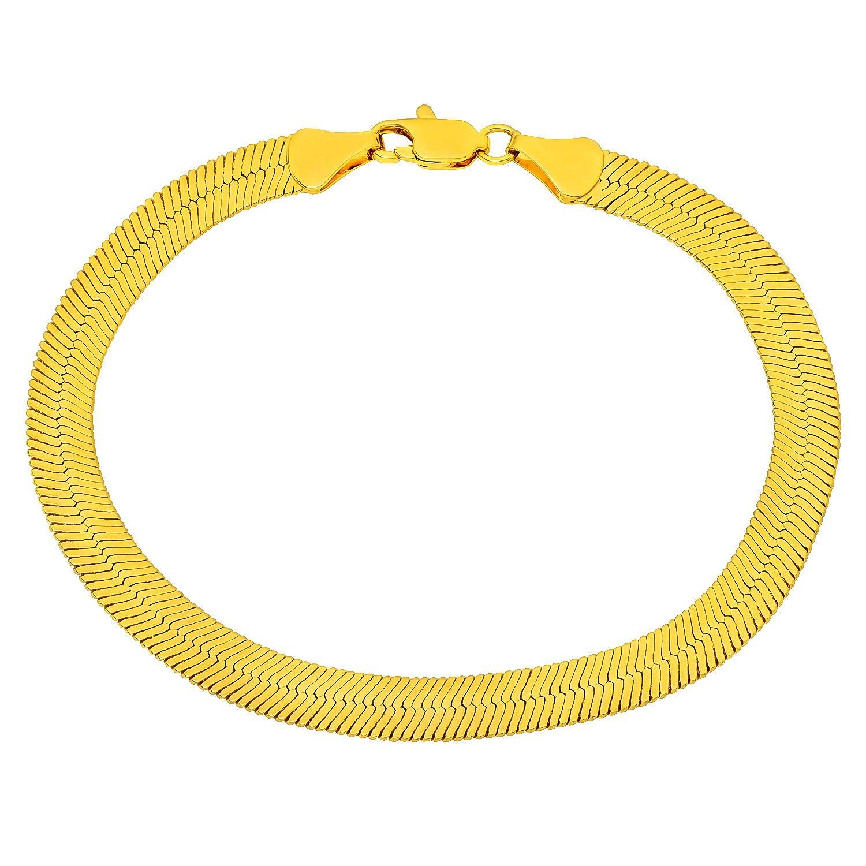 "AWESOME 8"" inch 10kt Gold 10mm wide Herringbone Bracelet"