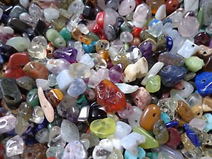 2 pack of gemstone chips suitable to make 4 adult bracelets - a must have