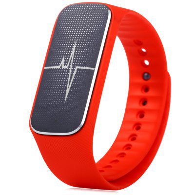 L18 Smart Fitness Wriistband Heart Rate Blood Pressure Mood Fatigue Monitor Sleep Tracker - Red
