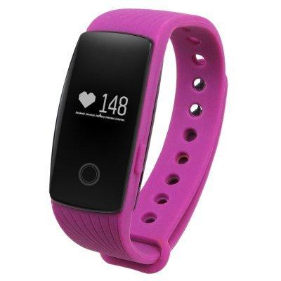 Smart Bracelet Fitness Tracker Heart Monitor Pedometer Sleep Calorie Monitor Watch - Purple
