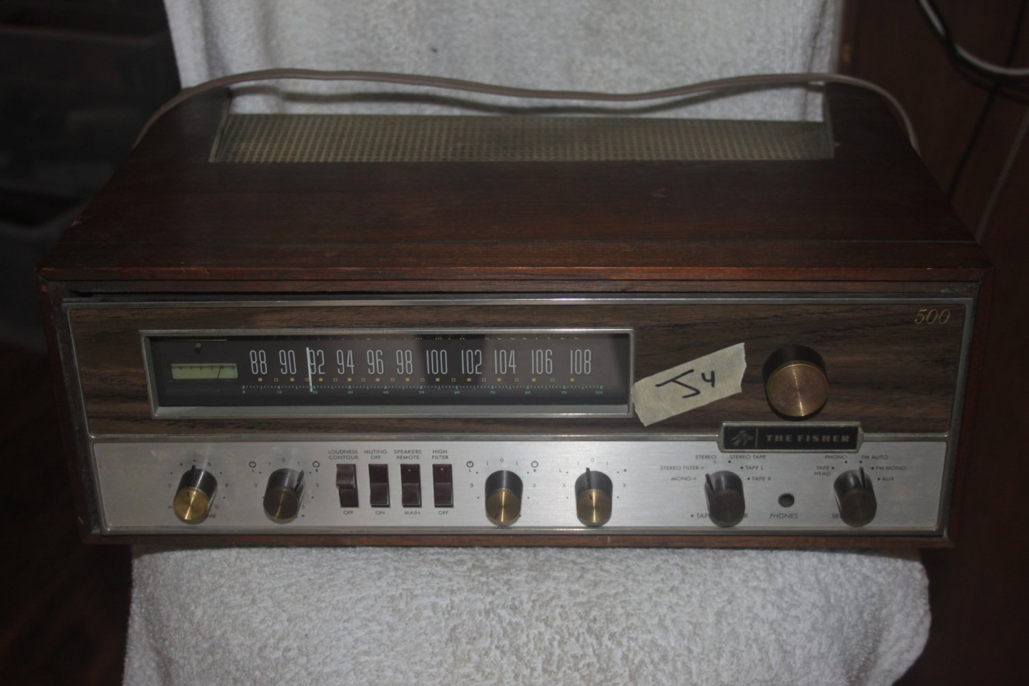 THE FISHER 500-T VINTAGE AUDIOPHILE HIFI RECEIVER POWERS ON AS IS 05/16