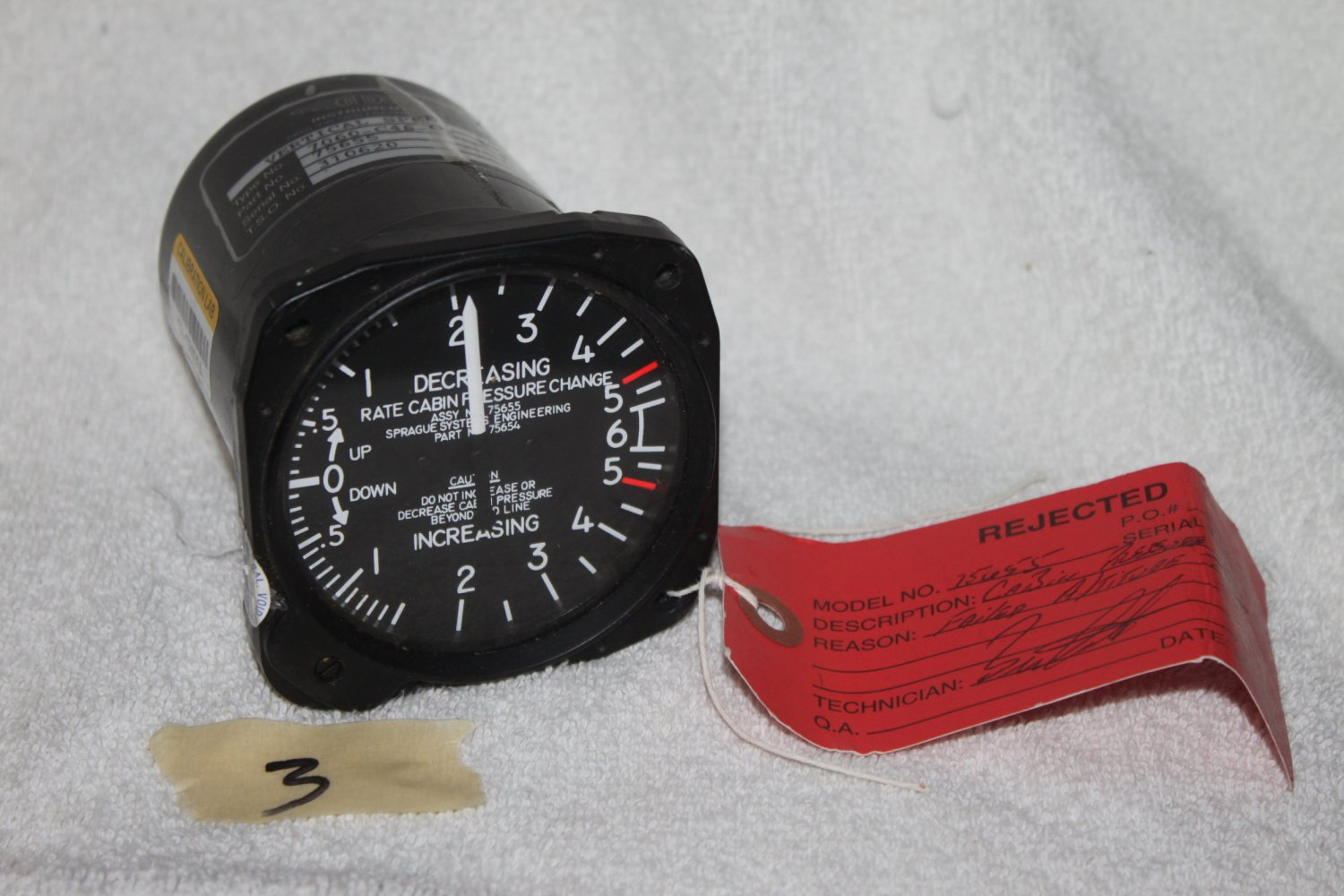 OTTO INSTRUMENTS Vertical Speed Indicator 7060-C46-OT 75655  -AS IS #3