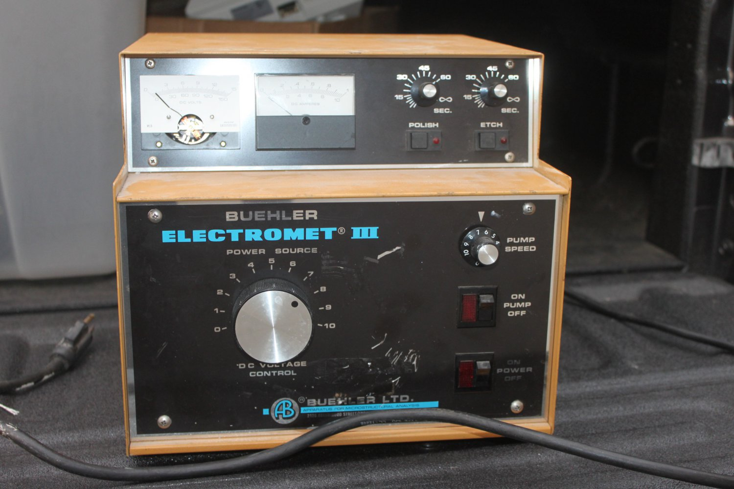 BUEHLER ELECTROMET III POLISHER POWER SUPPLY (v) 11-16
