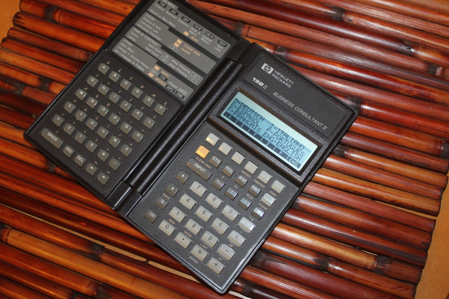 HP 19B II 19BII HP Vintage Business Calculator tested works W Batteries #1