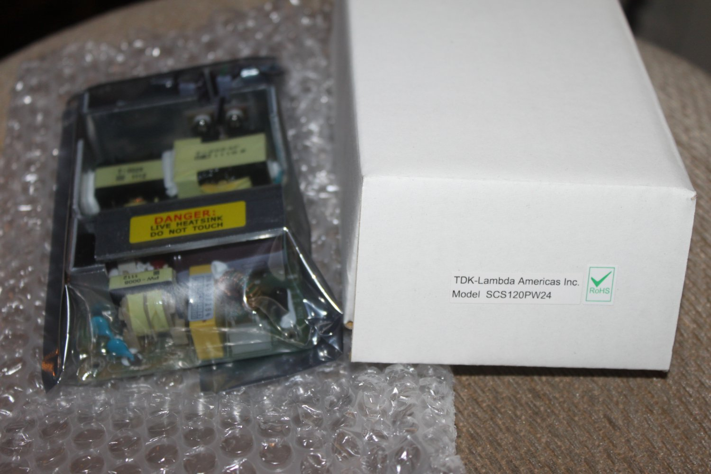 TDK Lambda AC-DC Open Frame SCS120PW24 O/P, 120W, 5A, 24V power supply NEW