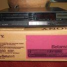 SONY SL-HF550 Super Beta Hi-Fi Stereo BETAMAX VCR WITH GOOD MOTORS