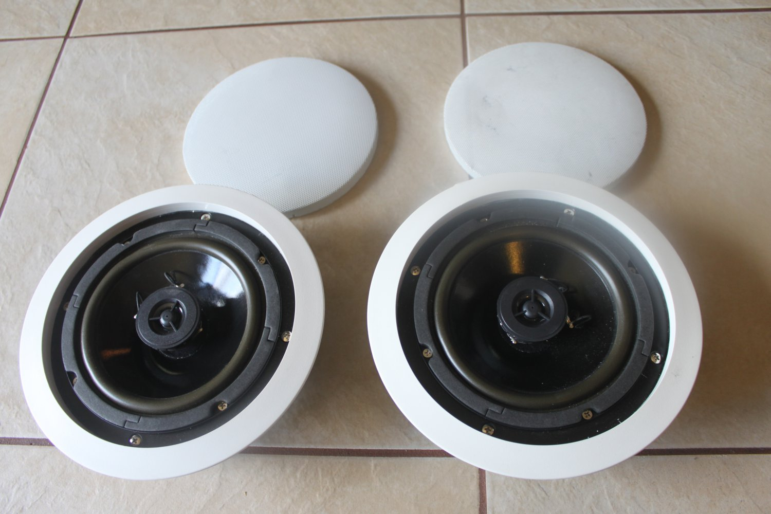 """OWI IC6 70V10 6.5"""" 70 Volts 10 Watts In-Ceiling Speaker white clean 2 each"""