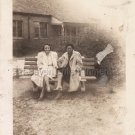 1940s Vintage 2 Classy African-American Women Bench Photo Black People Original