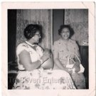 1950s Vintage 2 Beautiful African-American Women in Dresses Photo Black People
