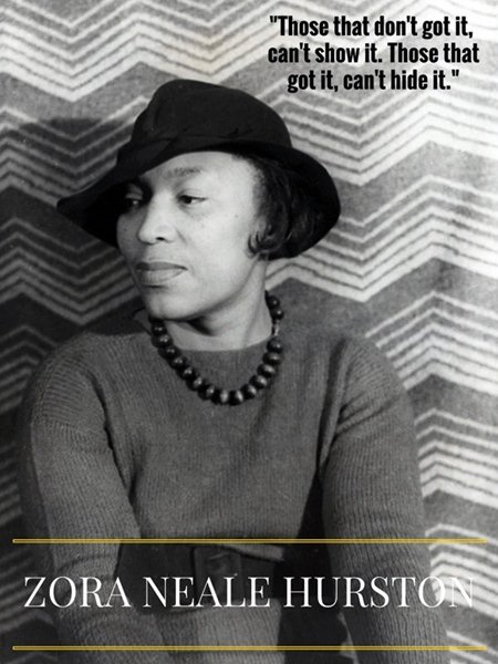 Zora Neale Hurston 18x24 Poster w/ Ouote African American Women Black Americana