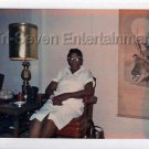 1970s Vintage African-American Elderly Woman Old Photo Black People Color USA
