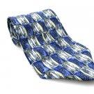 STONEHENGE Men's New 100% Silk Tie Blue White Gold NWOT Necktie Ties BL0174