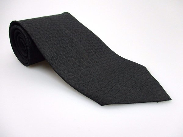 KETCH Men's New Polyester Tie BLACK NWOT Necktie Ties SO0222