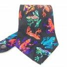Men's New Addiction 100% Polyester Tie Black Red Frogs NWOT Necktie Ties ST037