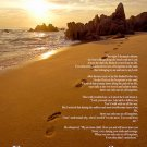 Footprints In The Sand Color Wall Poster Print Poem God Inspirational (18x24)