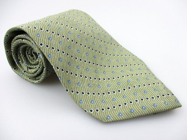Men's New SAVILE ROW 100% Silk Tie Green NWOT Necktie Ties GR091